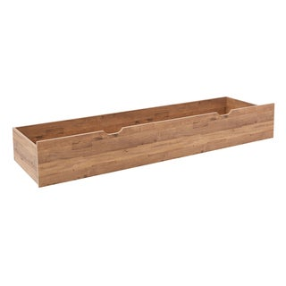 Quinton Queen Size Under Bed Storage Drawer in Salvage Oak Laminate Finish