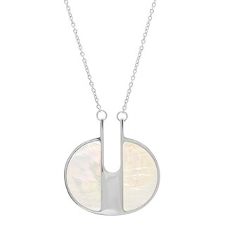 Piatella Ladies Stainless Steel Mother of Pearl Necklace in 2 Colors
