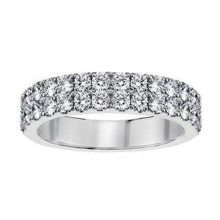 14k White Gold 1 1/7 CT Two Row Diamond Wedding Band|https://ak1.ostkcdn.com/images/products/17759891/P23959246.jpg?impolicy=medium