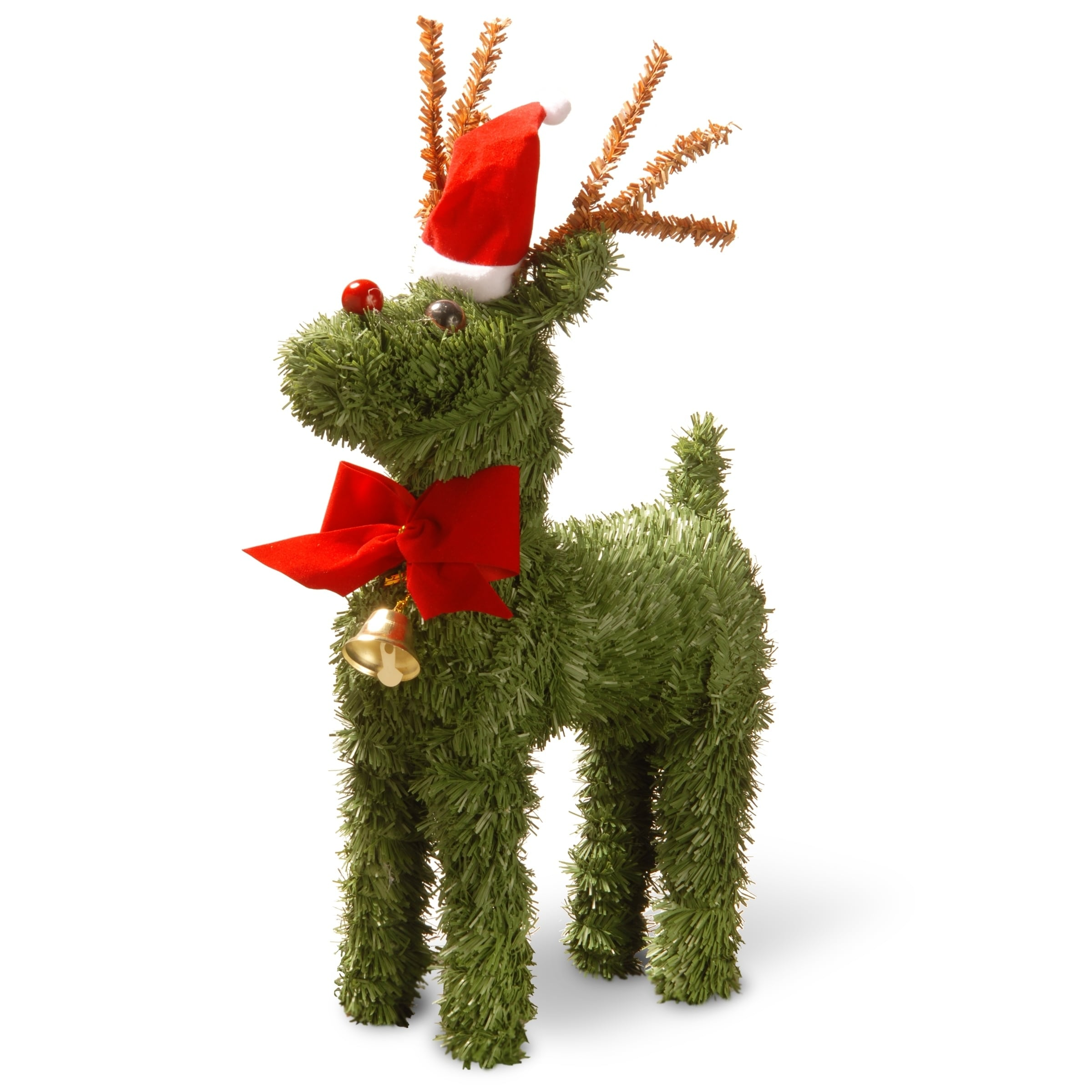 "National Tree 12"" Evergreen Reindeer, Green (Plastic)"