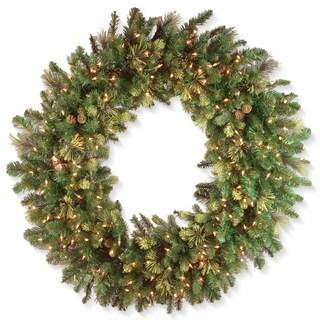 "48"" Carolina Pine Wreath with Clear Lights"