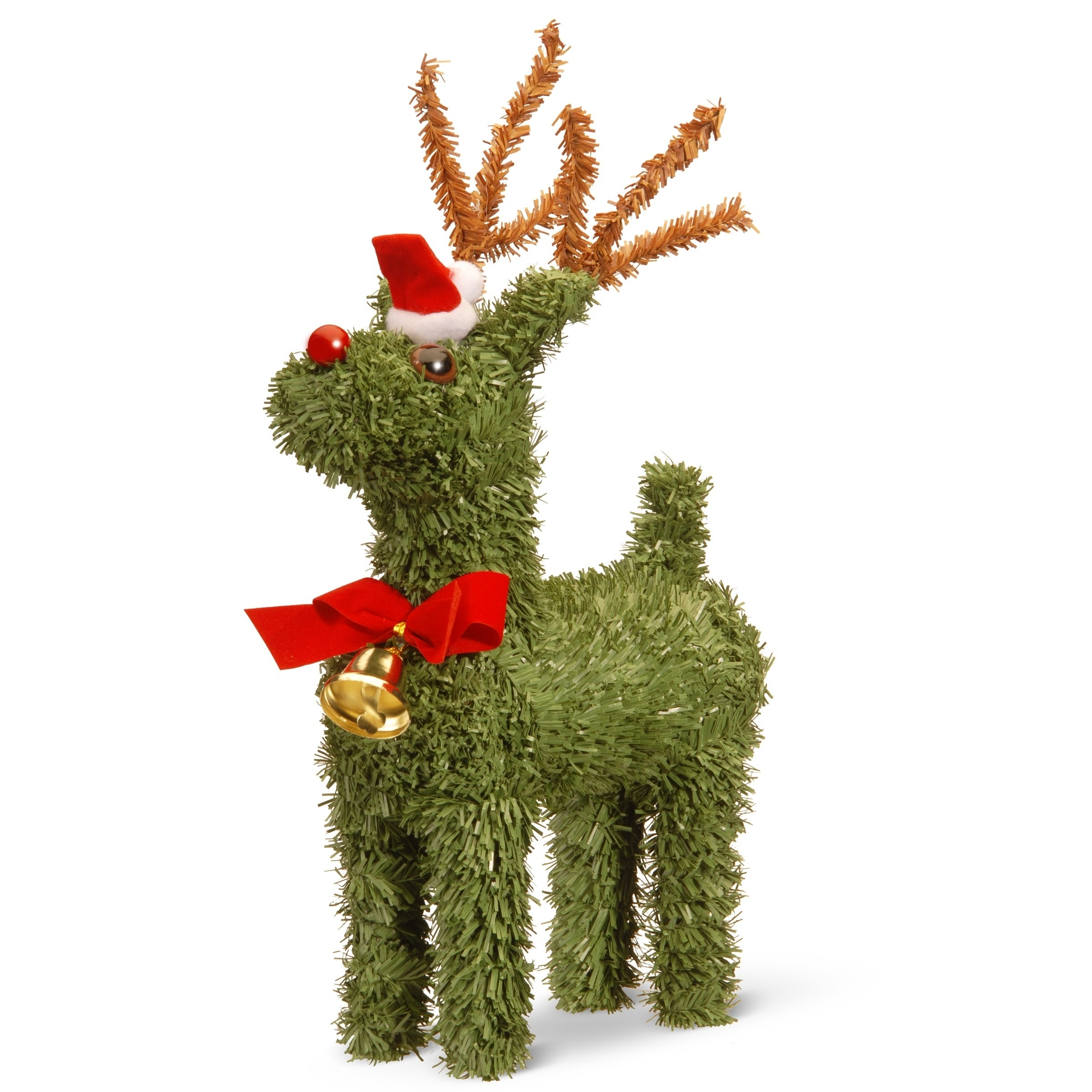 "National Tree 8"" Evergreen Reindeer, Green (Plastic)"