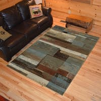 "Rustic Lodge Plank Multi Area Rug - 5'3"" x 7'3"""