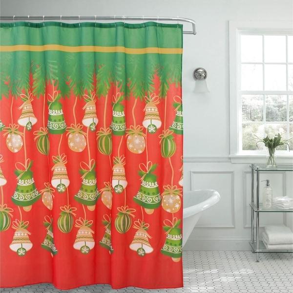 Shop Holly Jolly Christmas Shower Curtain