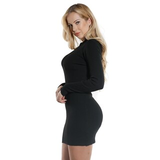 Special One Ladies Bodycon Rib keyhole Long Sleeve Sweater Dress (More options available)