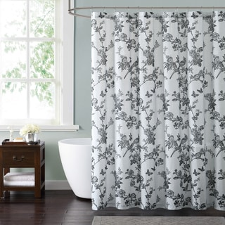 Style 212 Lisborn Black 72 x 72 Shower Curtain