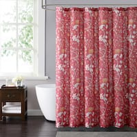 Style 212 Bedford Red 72 x 72 Shower Curtain