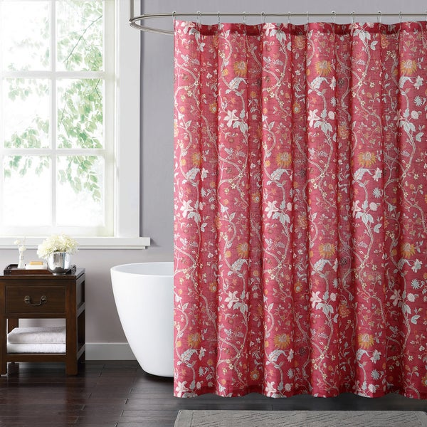 Style 212 Bedford Red 72 X Shower Curtain