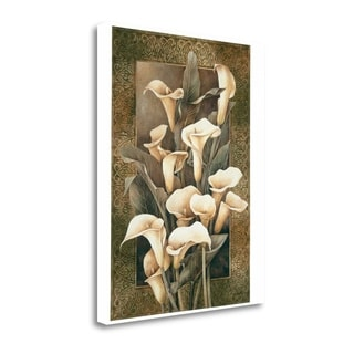 Golden Calla Lilies By Linda Thompson,  Gallery Wrap Canvas