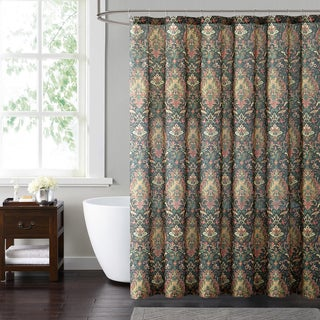 Style 212 Cambridge Black 72 x 72 Shower Curtain