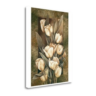 Golden Tulips By Linda Thompson,  Gallery Wrap Canvas
