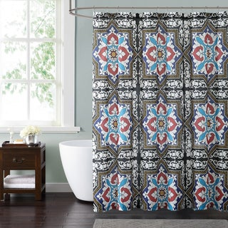 Style 212 Sheffield Blue 72 x 72 Shower Curtain