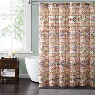 Style 212 Allegra Tribal Stripe 72 x 72 Shower Curtain