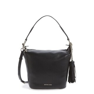 Michael Kors Medium Elana Convertible Leather Shoulder Bag - Black - 30T6SE3L2L-001