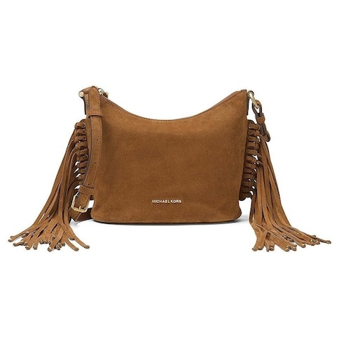 Michael Kors Billy Medium Suede Messenger - Dark Caramel - 30F6ABIM2S-248