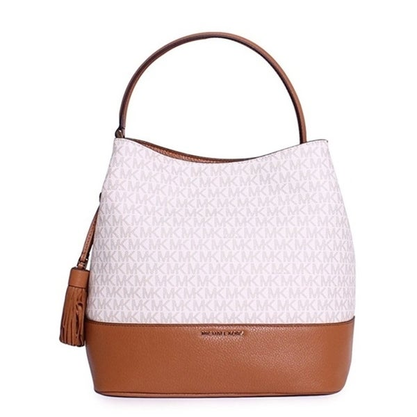 525347636732 Shop Michael Kors Kip Large Bucket Bag - Vanilla / Acorn - 30H6GK8M3B-149 -  Free Shipping Today - Overstock - 17760468