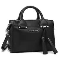 5533e9d94db3 Michael Kors Geneva Large Leather Satchel - Black - 30F6STXS1L-001