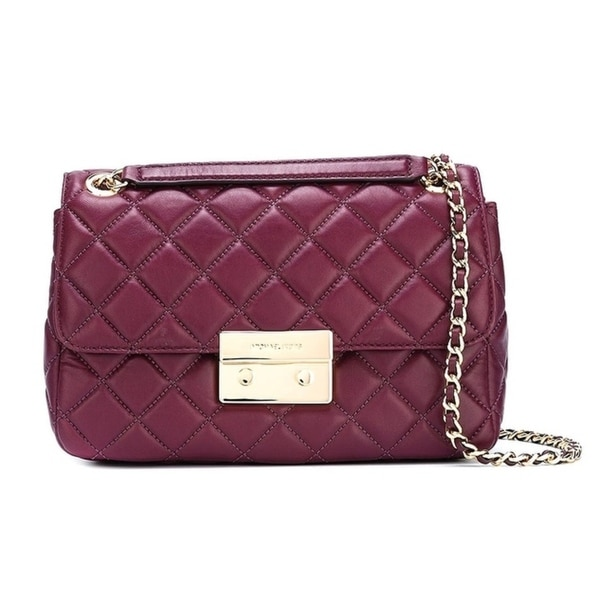 ed65e014d2e14b Shop Michael Kors Sloan Large Quilted-Leather Shoulder Bag - 30F5GSLL3L-633  - Free Shipping Today - Overstock - 17760471