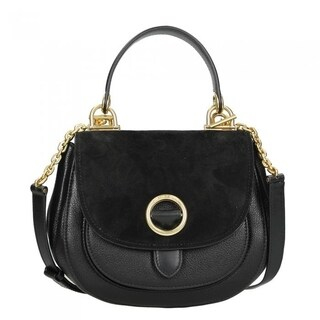 Michael Kors Isadore Medium Suede Satchel - Black - 30F6AIXM2S-001