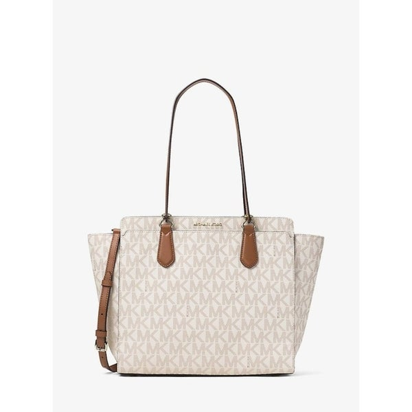 4656ed6c3852 Shop Michael Kors Dee Dee Large Convertible Logo Tote - Vanilla -  30F6GTWT4B-150 - Free Shipping Today - Overstock - 17760483