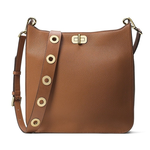 60cc03df667a Shop Michael Kors Sullivan Large Leather Messenger Bag - Brown -  30H6GUPM3L-230 - Free Shipping Today - Overstock.com - 17760506