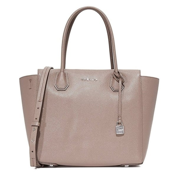 a4a6add86b48 Shop Michael Kors Mercer Large Leather Satchel - Pearl Grey -  30H6SM9S3L-513 - Free Shipping Today - Overstock - 17760513
