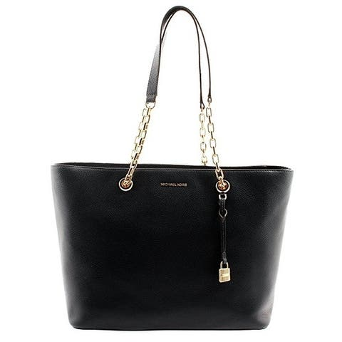 15b0a8c7d30a Michael Kors Mercer Medium Chain-link Leather Tote - Admiral -  30H6GM9T9L-414