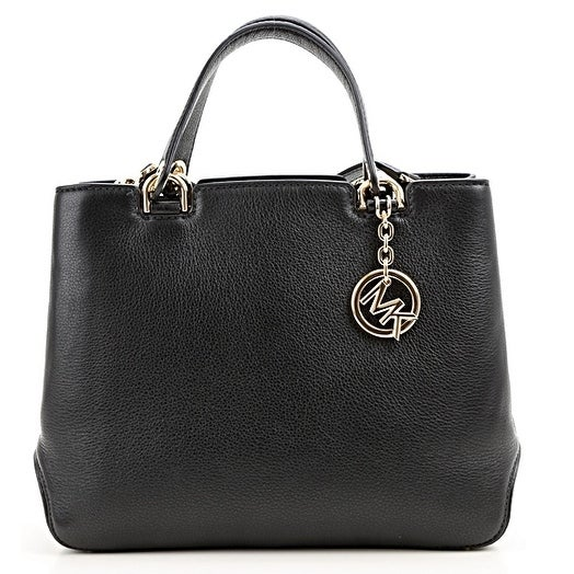 48d167544f61 Shop Michael Kors Anabelle Medium Top-Zip Leather Tote Bag - Black -  30S6GAPT2L-001 - Free Shipping Today - Overstock - 17760518