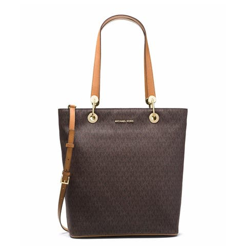 78f012075521 Michael Kors Raven Large North South Tote - Brown - 30S7GRXT3V-200