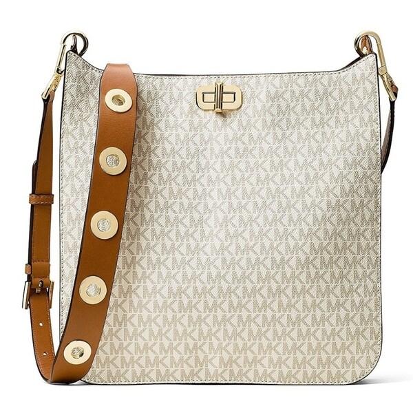 62cd53a8f17f Shop Michael Kors Sullivan Large Logo Messenger Bag - Vanilla -  30H6GUPM3V-150 - Free Shipping Today - Overstock - 17760539