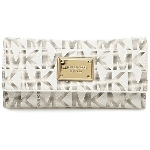 88dafd250f71 Shop Michael Kors Jet Set Checkbook Wallet - Vanilla - 32F1GJSE4B-150 - Free  Shipping Today - Overstock - 17760542