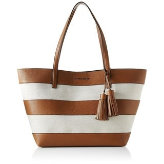 Michael Kors Large Canvas And Leather Tote - Brown / White - 30H6GUOT3C-817