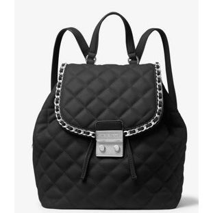 a03e12cbbd Shop Michael Kors Carine Medium Quilted-Leather Backpack - Black -  30T6TCCB2L-001 - Free Shipping Today - Overstock - 17760555