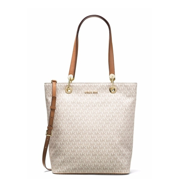 e7f2f7416ee3 Shop Michael Kors Raven Large North South Tote - Vanilla - 30S7GRXT3V-150 -  Free Shipping Today - Overstock - 17760558