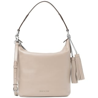 Michael Kors Medium Elana Convertible Leather Shoulder Bag - Cement - 30T6SE3L3L-092