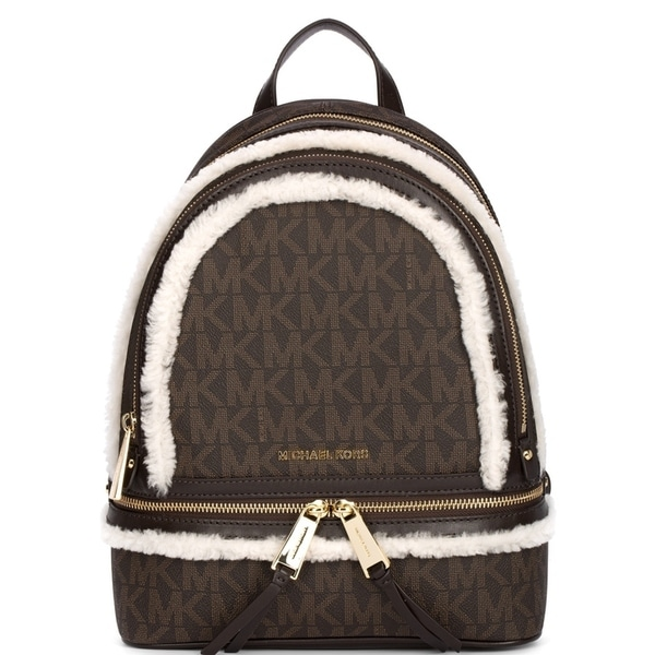 2c139d7369eb Shop Michael Kors Rhea Zip Medium Fur Backpack - Brown - 30F6GEZB9V-779 - Free  Shipping Today - Overstock - 17760560