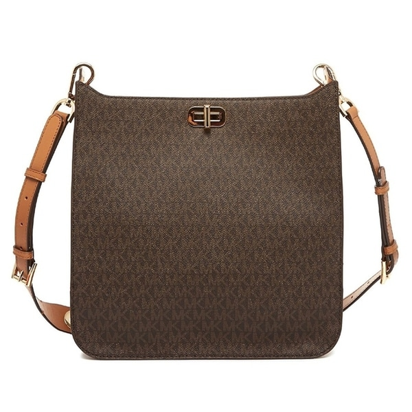 46c654a0587b9 Shop Michael Kors Sullivan Large Logo Messenger Bag - Brown -  30H6GUPM3V-200 - Free Shipping Today - Overstock - 17760563
