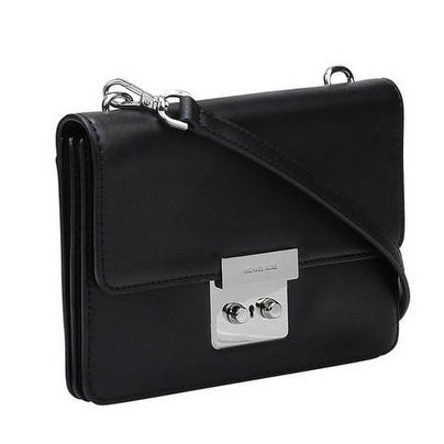 eb543c2c52ec6 Shop Michael Kors Sloan Small Calf Leather Crossbody - Black -  32S6SSLC4L-001 - Free Shipping Today - Overstock - 17760567