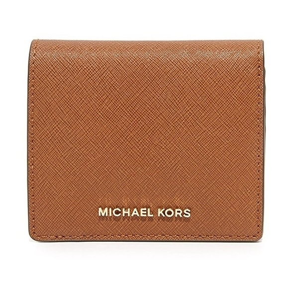 7f7b46d6a8bd Shop Michael Kors Jet Set Travel Saffiano Leather Card Holder - Brown -  32T6GTVD2L-230 - Free Shipping Today - Overstock - 17760575