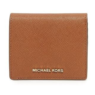 Michael Kors Jet Set Travel Saffiano Leather Card Holder - Brown - 32T6GTVD2L-230