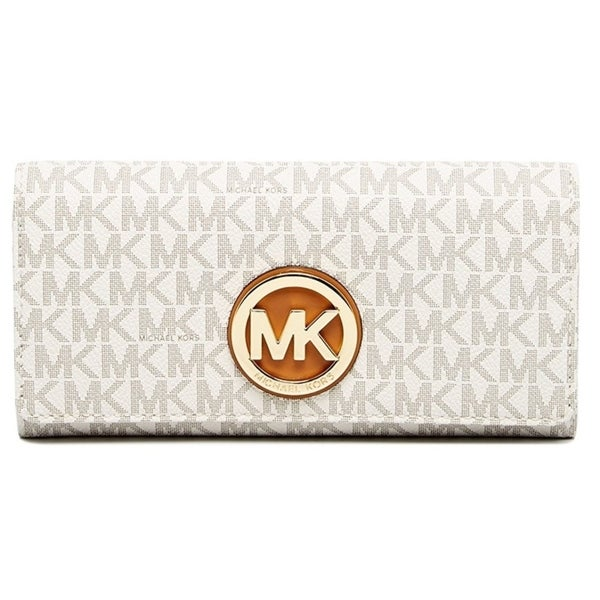 161ad1edb64412 Shop Michael Kors Fulton Logo Carryall Wallet - Vanilla - 32S7GFTE3B-150 -  Free Shipping Today - Overstock - 17760577