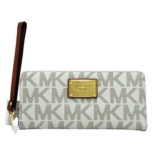 b9f41560b6e5 Shop Michael Kors Jet Set Travel Continental PVC Wallet - Vanilla -  32T5GTTE9B-150 - Free Shipping Today - Overstock.com - 17760580