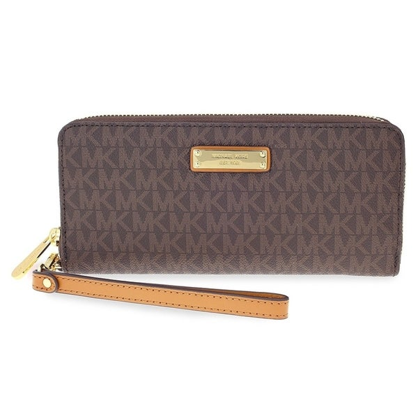 6541649a0c33 Shop Michael Kors Jet Set Continental Wristlet - Brown - 32S7GTTE9B-200 - Free  Shipping Today - Overstock - 17760593