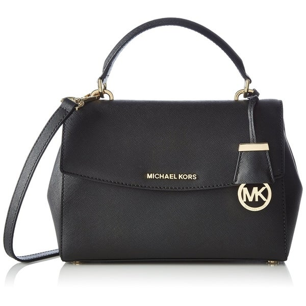 96e8f5ef4385 Shop Michael Kors Ava Small Leather Satchel - Black - 30T5GAVS2L-001 - Free  Shipping Today - Overstock - 17760596