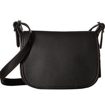 Coach Glovetanned Leather Saddle Bag Black 57731 Dkblk