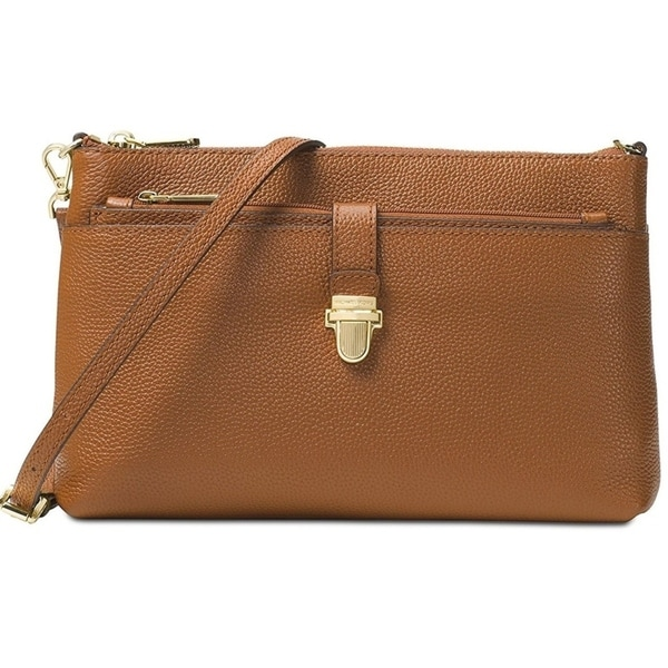 9b12c753d936 Shop Michael Kors Mercer Large Snap Pocket Crossbody Luggage - Brown -  32H6GM9C3L-230 - Free Shipping Today - Overstock - 17760600