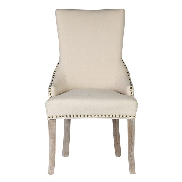 Caribou Dane Madonna Tan Linen Upholstered Dining Chair (Set Of 2)