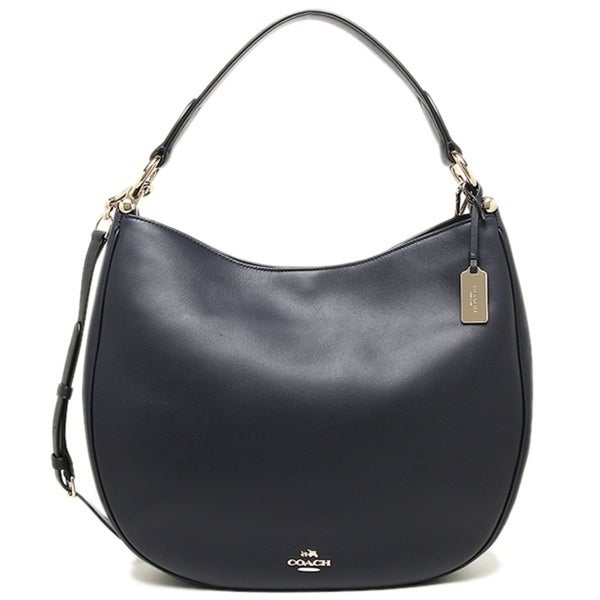 89fc3ba59e62 Shop COACH Nomad Hobo in Glovetanned Leather Handbag - Navy - 36026-LINAV - Free  Shipping Today - Overstock - 17760615
