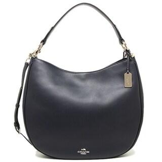 COACH Nomad Hobo in Glovetanned Leather Handbag - Navy - 36026-LINAV