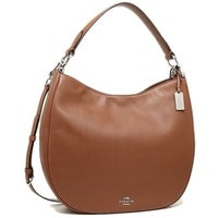 7c0b98e971 COACH Nomad Hobo in Glovetanned Leather Handbag - Beige - 36026-SV SD